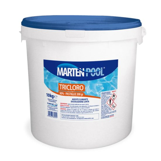 marten pool tricloro past 200gr 10kg