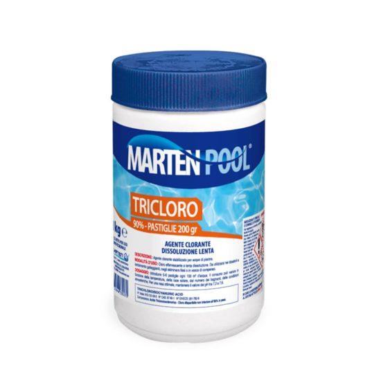 marten pool tricloro pastiglie 200gr 1kg