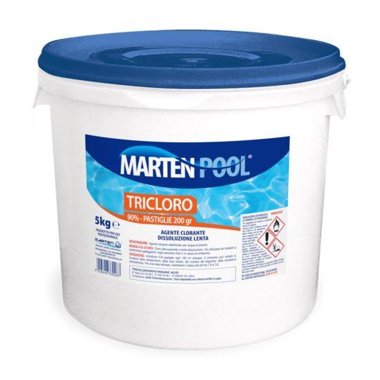 marten pool tricloro pastiglie 200gr 5kg