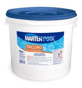 marten pool tricloro pastiglie 500gr 5kg